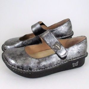 Alegria 38 Silver Paloma Mary Jane Comfort Shoes